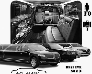 Stretch Limo airport shuttle in Buffalo